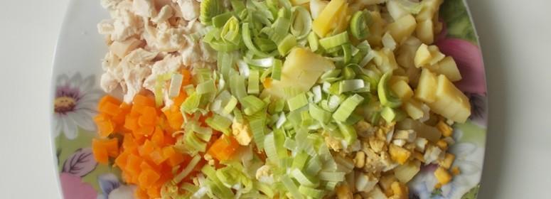 Салат из кроличьего мяса