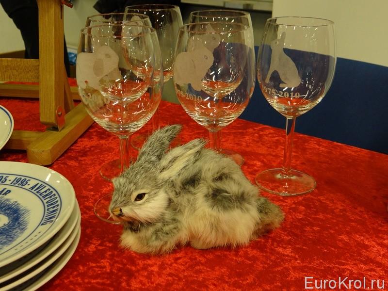 Выставка карликовых кроликов в Дании