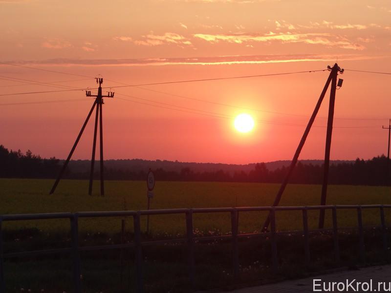 Польша закат