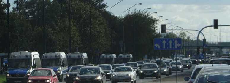 Варшава полицейские машины