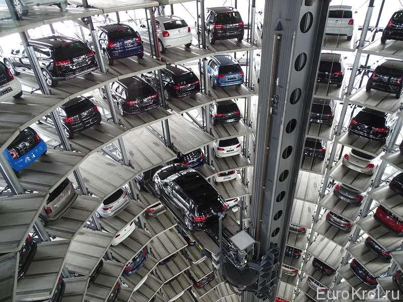 Склад автомобилей автоштадт