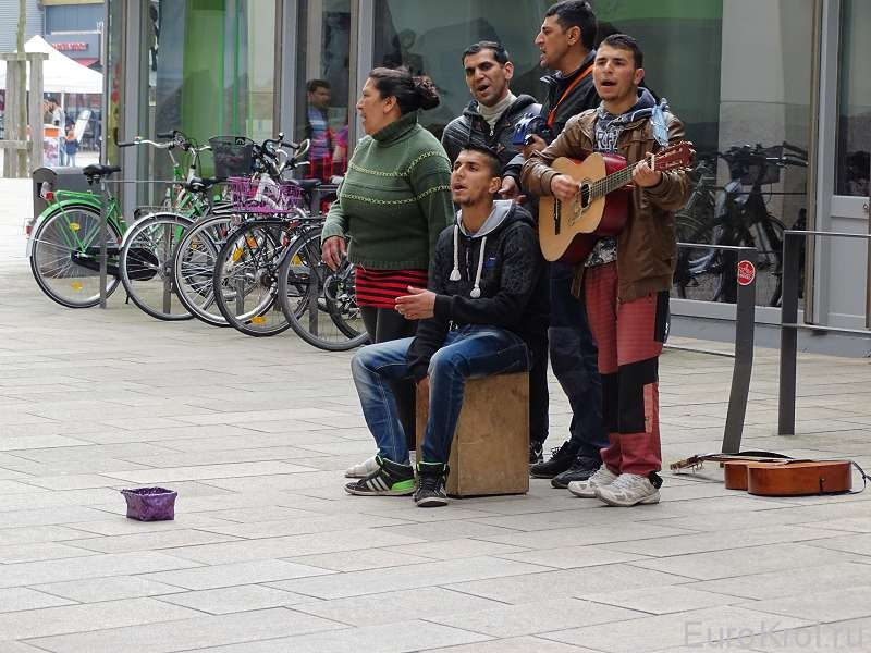 Уличные музыканты Вольфсбург