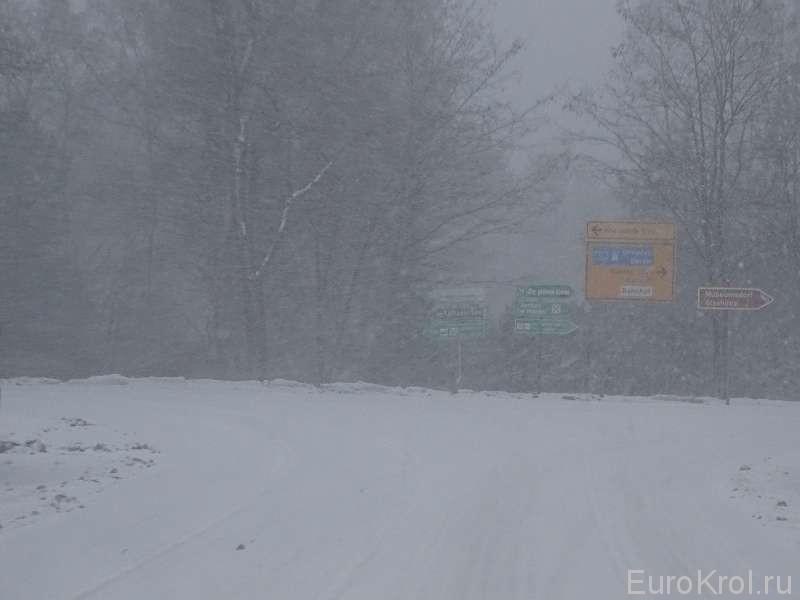 Снег в Германии