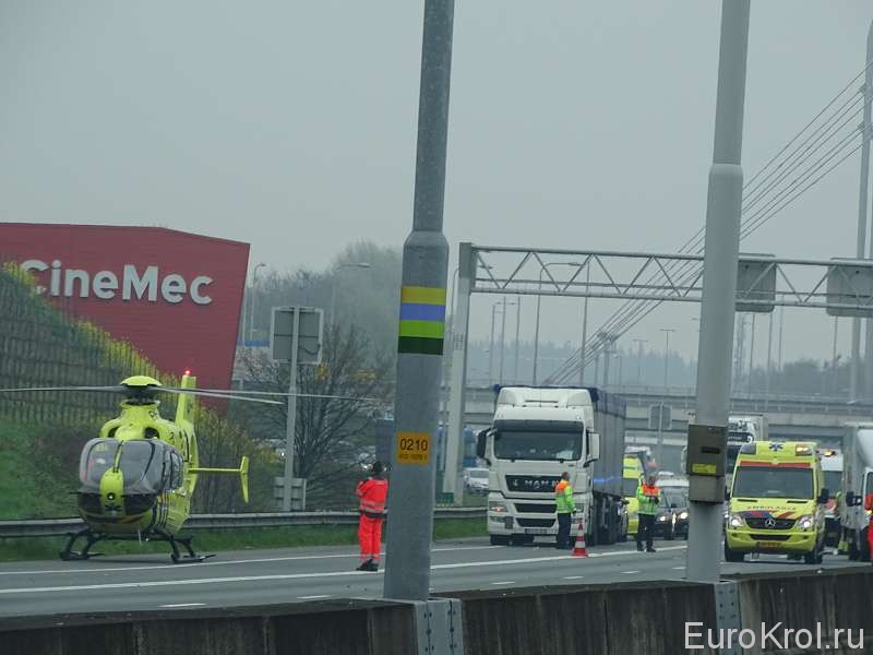 Авария автобан Голландия