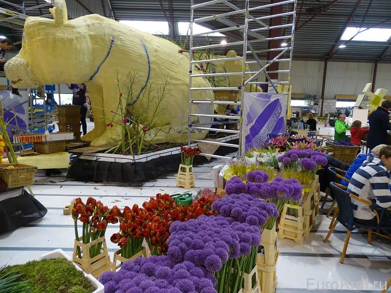 Подготовка парада цветов