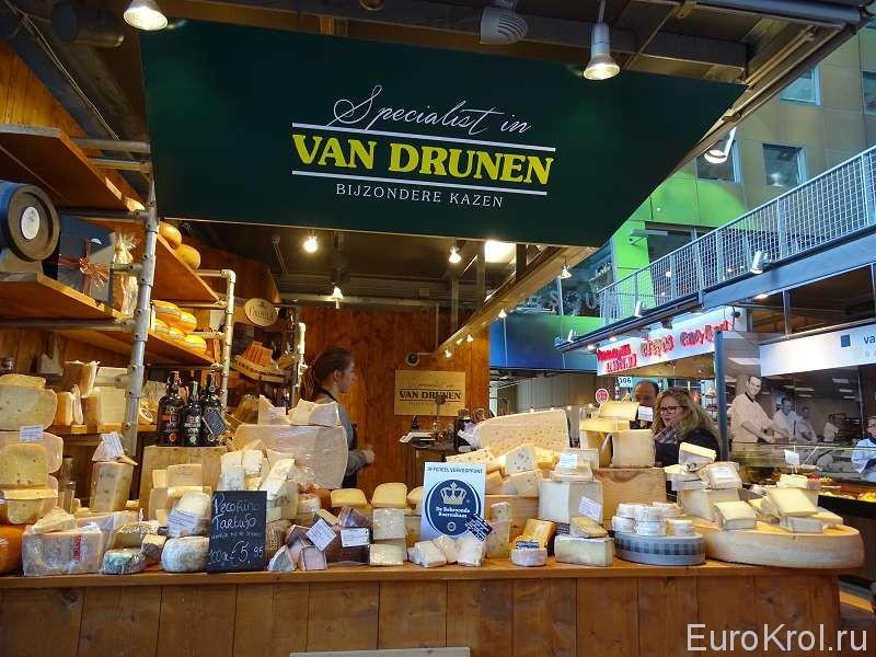 Сыры на рынке Markthal