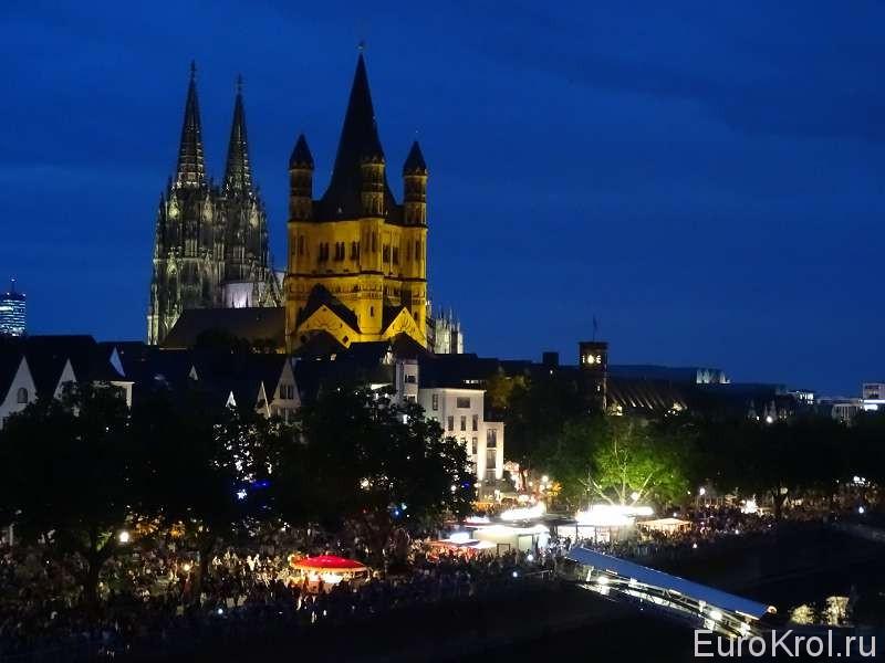 Кёльнский собор фестиваль огней