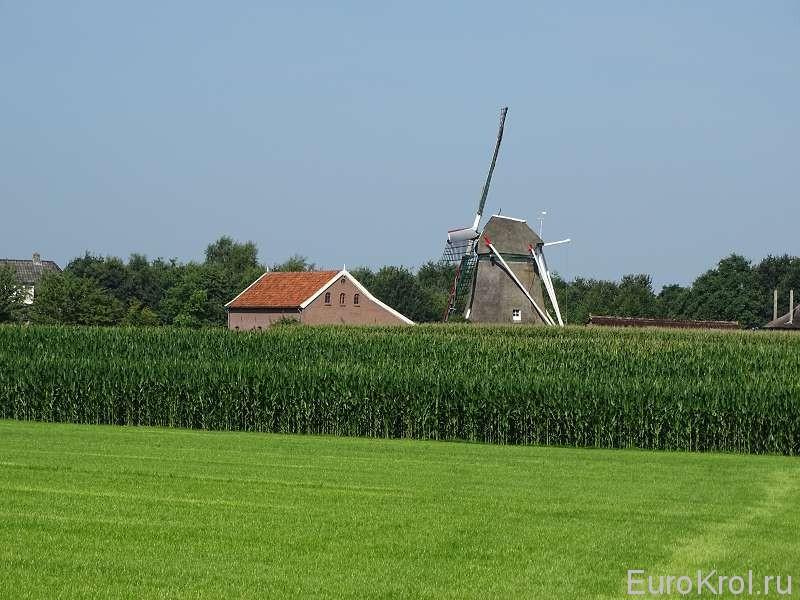 Мельница и дом Голландия