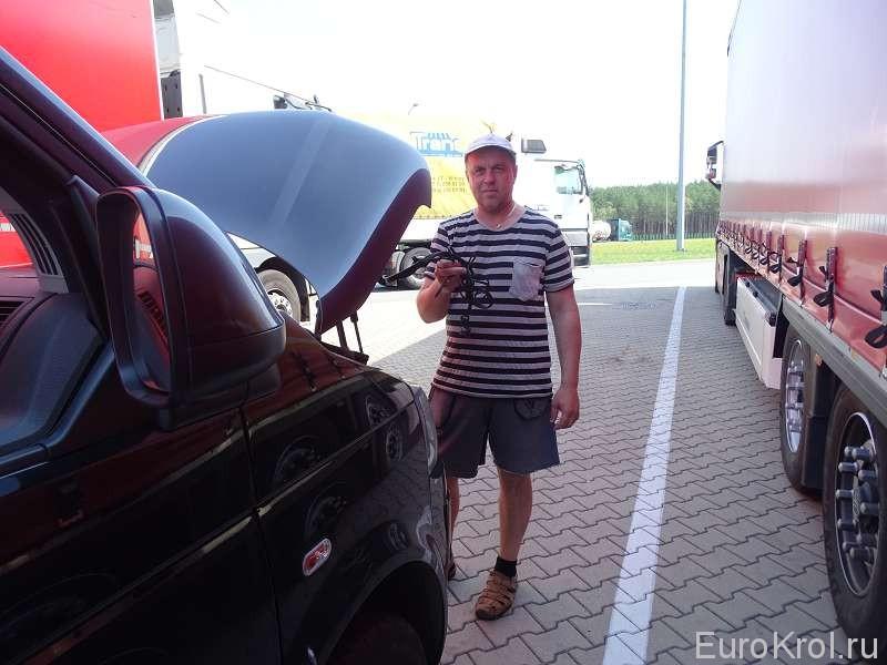 Поломка на автобане в Польше